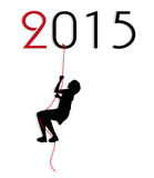 Symbolic illustration for the New Year. On white background Stock Photos