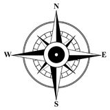 Symbolic image of compass stock photo