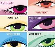 Symbolic image of eyes. Business card vector illustration