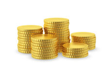 Symbolic image of gold coins Royalty Free Stock Image