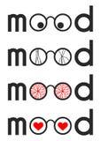 The effect of mood on perception. Symbolic image of the influence of mood on perception  and attribution royalty free illustration