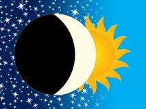 Sun and Moon Royalty Free Stock Photos