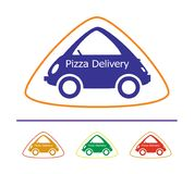Pizza Delivery - 14. A symbolic image for the pizza delivery service. The image has four color versions and uses a flat fill only Stock Images
