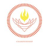 Championship - 23. Symbolic image for use as a symbol or logo of championships of any kind of sports or computer games. The image uses only a flat fill Stock Images