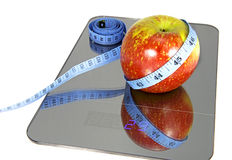 Symbolic image for weight loss Royalty Free Stock Photos