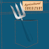 Symbolic jeans pocket Agricultural Consultant Royalty Free Stock Photo