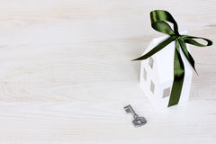 A symbolic key to the new house concept Royalty Free Stock Images