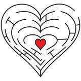 Symbolic labyrinth heart royalty free illustration