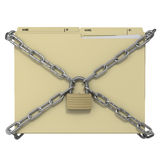 Symbolic locked manila office folder Royalty Free Stock Photos