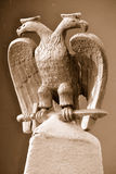 Symbolic Masonic Statue. Freemasonry Masonic Symbol Depicting a Two Headed Bird Royalty Free Stock Photography