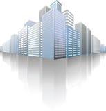 Symbolic modern cityscape Royalty Free Stock Image