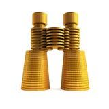 Symbolic money's binoculars. Isolated 3d rendering of the symbolic money's binoculars Stock Images