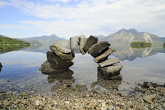 Symbolic natural stone bridge. In bavarian lake royalty free stock photo
