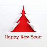 Symbolic  New Year's tree 3d rendering Stock Image