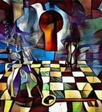 Symbolic painting. Internet stock illustration