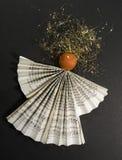 Symbolic paper angel Stock Photo
