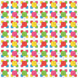 The symbolic pattern of colored rectangles, seamless pattern.  Stock Image