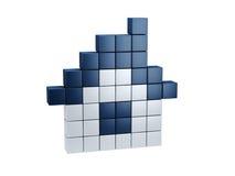 Symbolic pixel house Stock Image