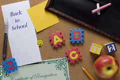 Symbolic poster back to school Royalty Free Stock Photo