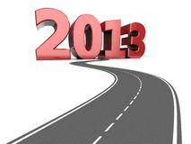 Symbolic road. Road life with number 2013, success concept Royalty Free Stock Photo