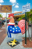 Symbolic rooster sculpture in Little Havana, Miami Royalty Free Stock Photos