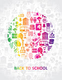 Symbolic school illustration. Royalty Free Stock Photography