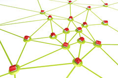 Symbolic settlement network Stock Image