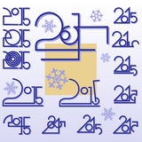 Symbolic sign 2014. Geometric abstract image - a symbol of the calendar year. Vector Royalty Free Stock Photos