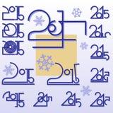 Symbolic sign 2014 Royalty Free Stock Photos