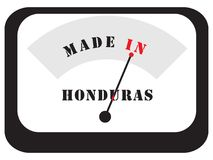 Made in Honduras. Symbolic Sign - Made in Honduras, in the form of an electronic scale measuring device Stock Photo
