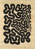 Symbolic snake pattern Royalty Free Stock Photo