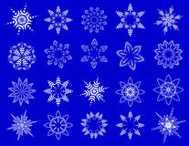 Symbolic snowflakes. Winter design elements. Vector Stock Photography