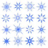 Symbolic snowflakes. Symbolic snowflakes set. Vector illustration Royalty Free Stock Photos