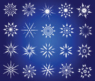 Symbolic snowflakes. Abstract winter icons. Vector illustration Stock Images