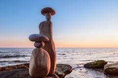 Symbolic stone figurines Royalty Free Stock Images