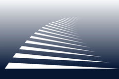 Symbolic stripes of zebra crossing. White lines on blue background. Symbolic stripes of zebra crossing. Vector art Stock Photo