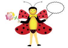 Symbolic summer ladybug Stock Photography