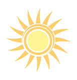Symbolic sun icon Royalty Free Stock Image