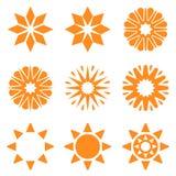 Symbolic sun set Royalty Free Stock Images