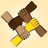 Symbolic teamwork Stock Photo