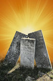 Symbolic tombstones Stock Photo