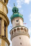 Symbolic tower of Sopron, Hungary royalty free stock photography