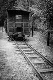 Symbolic train wagon in concentration camp Stutthof Royalty Free Stock Images