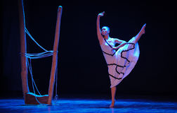 The symbolic value-Errand into the maze-Modern dance-choreographer Martha Graham. In December 19, 2014, Shi Feifei the dancer dance work session held in the Royalty Free Stock Photos