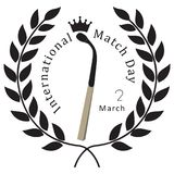 Symbolic veneration of the match Royalty Free Stock Images