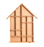 Symbolic wooden house Royalty Free Stock Image