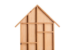 Symbolic wooden house Stock Image