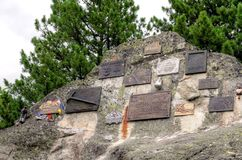 Symbolical Begraafplaats onder Ostrva in Hoge Tatra-Bergen, Slowakije Royalty-vrije Stock Fotografie