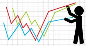 Symbolical image of lifting of economic Royalty Free Stock Photos