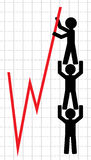 Symbolical image of lifting of economic Stock Photo